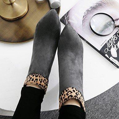 Gris Otoño Stiletto gray Puntiagudo Sintético Confort Zapatos Heart Dedo Cremallera Marrón Para Mujer Tacón Botas amp;M Invierno Negro zqTZRAIP