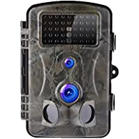 Yunt Trail Camera, 1080P 12MP Hunting Camera with 42PCS LEDs Night Vision 2.4''LCD Waterproof Monitoring for Wildlife Hunting and Home Farm Security