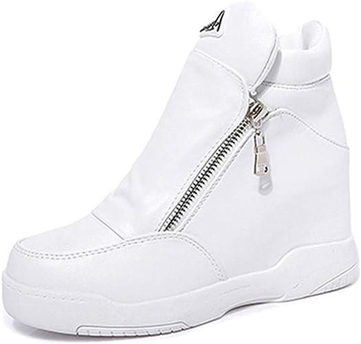 Sneakers Alte con Zeppa nascoste da Donna Scarpe da Ginnastica con Plateau Scarpe  da Ginnastica con Plateau PU Scarpe Sportive con Zeppa: Amazon.it: Scarpe e  borse