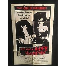 Wild World Of Batwoman AKA She Was A Hippie Vampire 1971 Original Vintage One Sheet Movie Poster, Lawsuit, RARE, DC Comics, Bat Woman, Batman