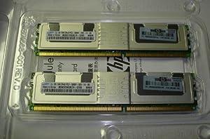 HP RAM 2GB Kit Samsung 2 x 1GB 2RxB PC2-5300F-555-11-B0 Server Ram 398706-051 with Heat spreaders