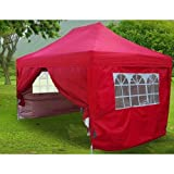 Big Sales!!Quictent Heavy Duty Full Close 10x15' Easy Set Pop Up Party Tent Canopy Gazebo Red