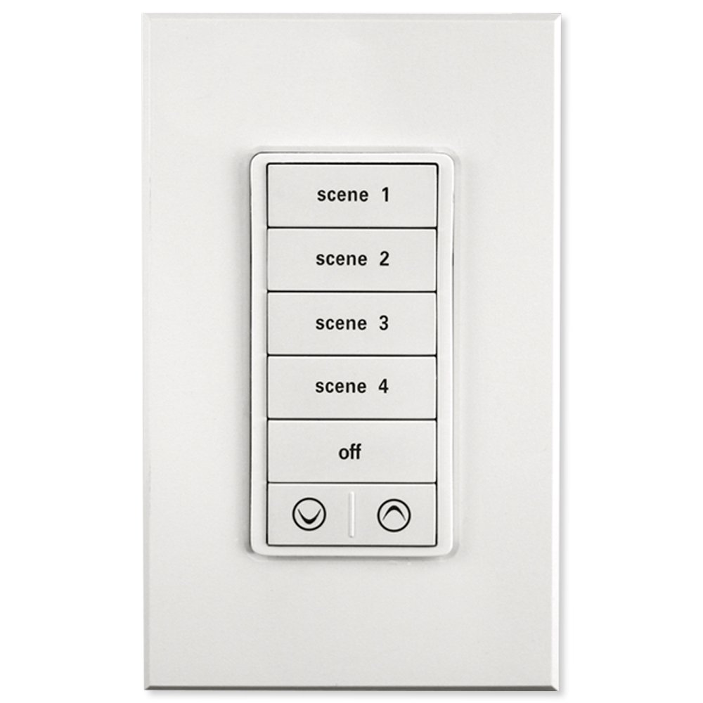 PCS PulseWorx UPB Keypad Controller with Load Relay, White (KPLC-7-W)