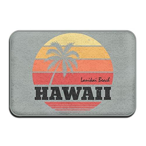 Fuucc-6 Inside & Outside Entrance Custom Doormat Hawaii Design Pattern For Bathroom by Fuucc-6