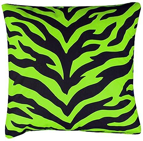 07152900037KM Karin Maki Zebra Square Pillow Lime Kimlor Inc