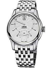 Artelier Silver Dial Leather Strap Mens Watch 91777024051MB · Oris