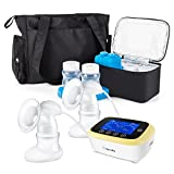 Electric Breast Pump, BelleMa S3 Real Hospital Grade Breast Pump Dual-motor, L/R Pump Separate Control Double Breast Pump, 9 Suction...