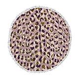 KESS InHouse Vasare Nar Leo Cheetah Animal Pattern Round Beach Towel Blanket