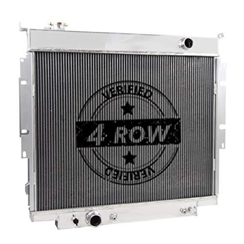 Primecooling 62MM 4 Row All Aluminum Radiator for Ford F150 F250 F350 Trucks 6.9L 7.3L Diesel 1983-94