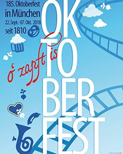 1art1 Posters: Beer Poster Art Print - Oktoberfest 2018, Beer Festival, Gaudi (20 x 16 inches)