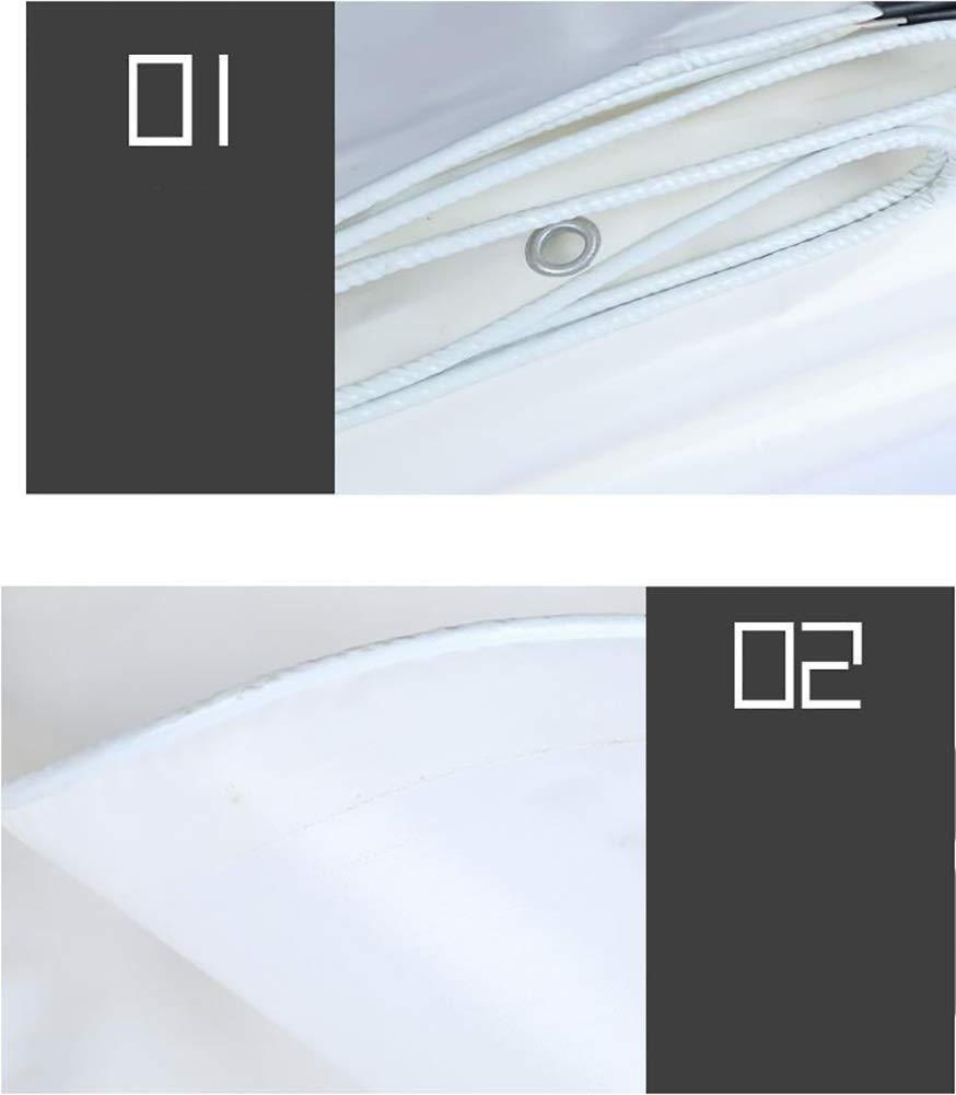 Abdeckplane 0,3 mm Dicke weiße Plane , Mehrzweck-Regen- Mehrzweck-Regen- Mehrzweck-Regen- und Sonnenschutzplanenbahn, 350 g   (größe   2×2m) B07NRWVHZ2 Picknickdecken Neues Design 9e33a8