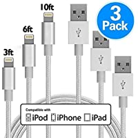 3Pack GANJOY 3FT 6FT 10FT lPhone Cable Cord