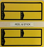 Poly Stock Stickers - #240-Yellow - 250 per Box (C7)