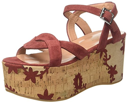 Twin Set CS7TUS, Sandali con Zeppa Donna Marrone (Red Sand)