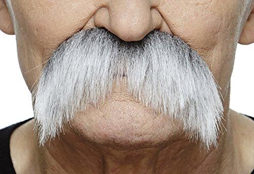 Walrus gray with white fake mustache, self (Grey Mustache)