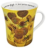 Konitz 12-Ounce Les Fleurs Chez Les Peintres Van Gogh Mugs, Set of 4 by Konitz
