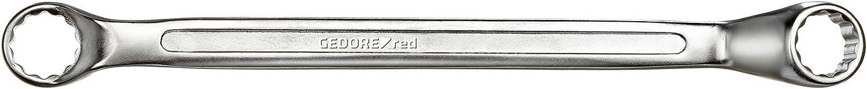 Silber GEDORE red Doppelringschl/üssel L 215 mm SW 12 x 13 mm Chrom-Vanadium-Stahl