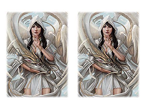 100 Let Sleeping Dragon Lie Deck Protectors Max Protection Shuffle Tech Art Sleeves 2-Packs - Standard Magic the Gathering Size White