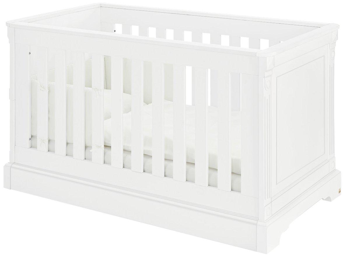 Pinolino 113467 Kinderbett Emilia Edelmatt MDF Uni, weiß lackiert