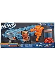 Nerf Elite 2.0 Shockwave RD-15-blaster, 30 Nerf-darts, draaiende trommel met 15 darts, pompactie voor spervuur, ingebouwde aanpassingsmogelijkheden, Standard packaging