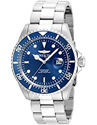 Invicta Mens Pro Diver Quartz Stainless Steel Diving Watch, Color:Silver-Toned (Model: 22019)
