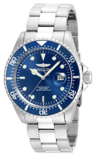 Invicta Men's 'Pro Diver' Quartz Stainless Steel Diving Watch, Color:Silver-Toned (Model: 22019)