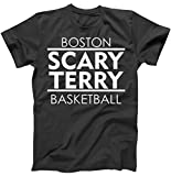 TeeShirtPalace Scary Terry Basketball Boston Inspired T-Shirt Black Review and Comparison