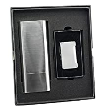 Visol Levitt Cigar Case and Maximus Matte Chrome Torch Flame Cigar Lighter Set