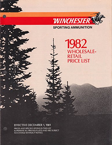 Winchester Sporting Ammunition Price List Wholesale-Retail 1982