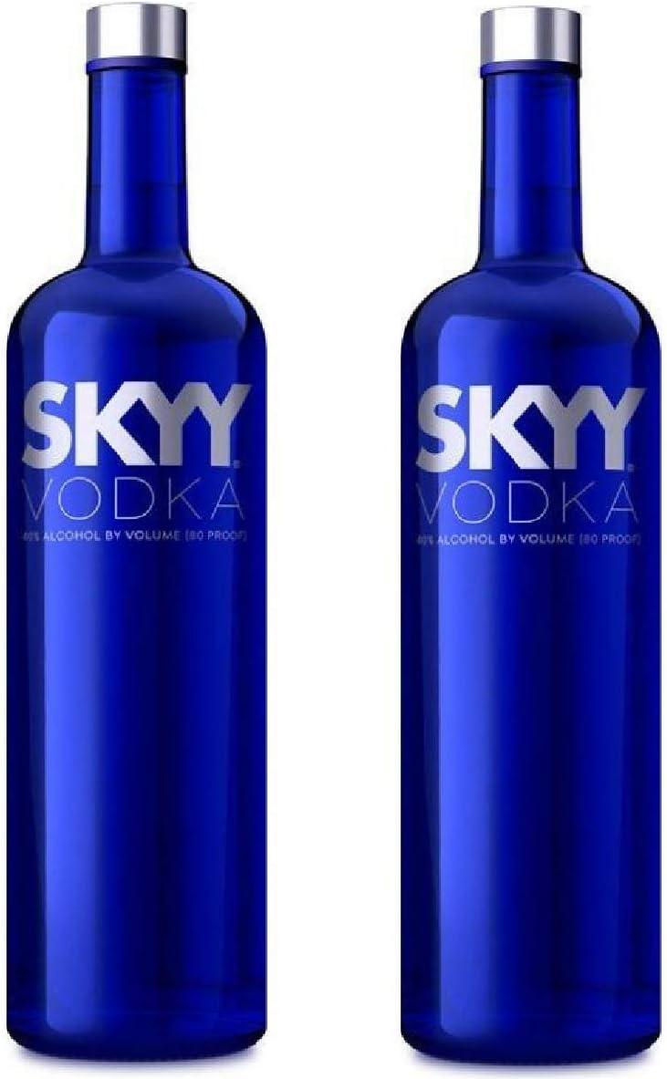Skyy Vodka 40 2x Bottles 1 Litre Amazon Co Uk Grocery