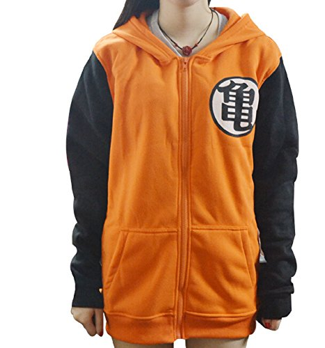 [Mxnpolar Dragon Ball Z Kame Symbol Orange Long Sleeves Hoodie Cosplay Costume XXL] (Dragon Ball Z Costume For Adults)