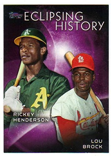 - 2015 Topps Eclipsing History #EH-1 Lou Brock/Rickey Henderson Baseball Card NM-MT