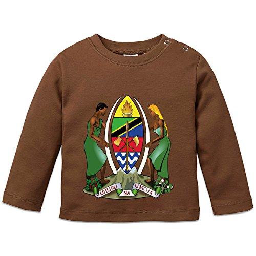 Shirtcity Tanzania Coat of Arms Baby Long Sleeve Shirt 92/98 (Tanzania Sweater)