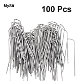 3 4 inch hot water hose - MySit 100 x 6-Inch Galvanized Ground Garden Staples Grass Stakes Pins, Lawn Landscape Staples Weed Fabric Staple, Heavy-Duty 11 Gauge Anti-Rust Steel Sod Anchor Securing Pegs(SodStaple_11Ga_AR)