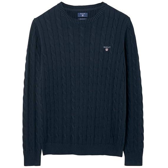 2d77c34619 Gant Men's Cotton Cable Crew Jumper: Amazon.co.uk: Clothing