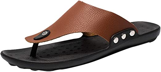 Mens Sandals Loafer Dual Purpose Slippers Thongs Beach Casual Shoes