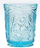 Tumbler Field Flower Pattern - Mosser Glass - American Made (Spring Blue)