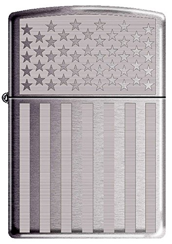 American Flag Patriotic Zippo Lighter Polished Chrome ()