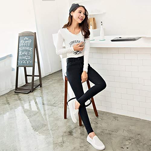 Pantalon Crayon Mode Taille Haute Stretch Slim lastique Jeans Haute Imitation Denim Femmes pour Jeans Les Mince Skinny Leggings pPwpqvR