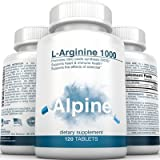 Alpine-Nutrition-L-Arginine-1000mg-Tablets-NOS-Nitric-Oxide-Capsules-120-Veggie-Tablets