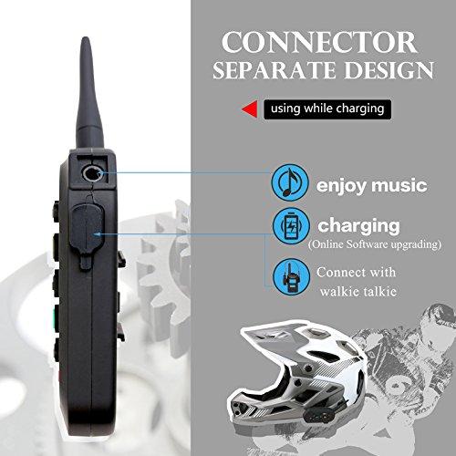 Radioddity 2-Pack E6 Bluetooth Motorcycle Helmet Intercom VOX Interphone Headset, 1.2KM Full Duplex Interphone for Outdoor Sports Walkie Talkie 6 Riders by Radioddity (Image #2)
