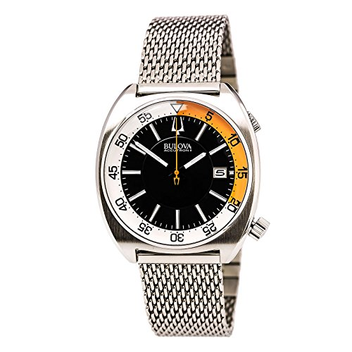 ack Dial Stainless Steel Quartz Men's Watch 96B208 (Accutron Band Wrist Watch)