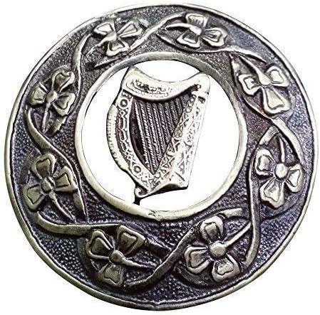 Celtique Harpe TC Celtique Kilt Mouche Plaid Broche Finition Antique 3 ///Écossais Pins /& Broches Divers Style Antique 7.62cm