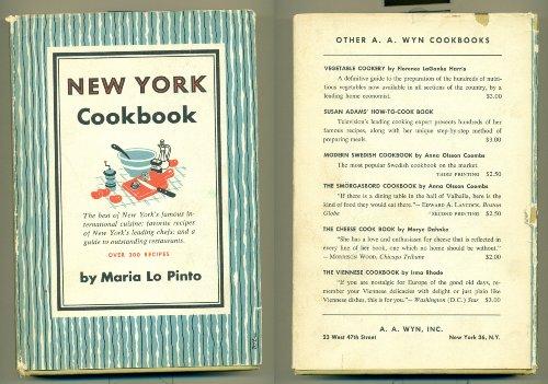 New York Cookbook Maria Lo Pinto [C]1952