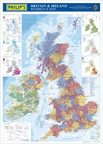 Philip's Reference Map: Britain and Ireland: Political (Wall Map Tube)