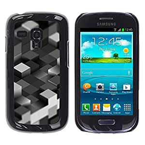 iKiki Tech / Estuche rígido - Bloques grises - Samsung Galaxy S3 MINI 8190