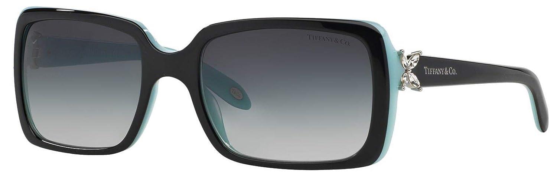 TIFFANY & CO. Victoria TF 4047B - 80553C Rectangular Sunglasses Black, Blue 55mm