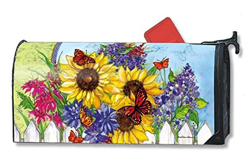 Butterflies and Blossoms Large MailWraps Magnetic Mailbox Cover #21324