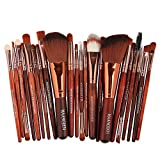 Ourhomer  Clearance Sale MAANGE New 22pcs Cosmetic Makeup Brush Blusher Eye Shadow Brushes Set Kit (Brown)
