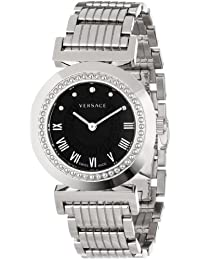 Versace Women's P5Q99D009 S099 Vanity Stainless Steel Black Sunray Dial Watch